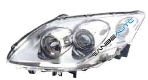 OPTICA IZDA H7+H7 ELECTRICA-CON MOTOR-NEGRA